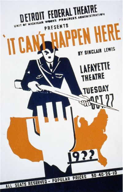 Picture Of It Cant Happen Here Poster For Stage Adaptation