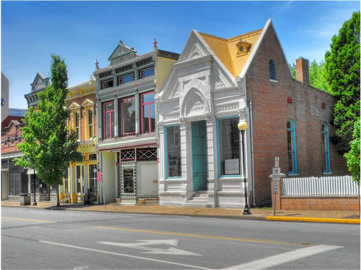 Picture Of The Downtown Historic District Of New Harmony