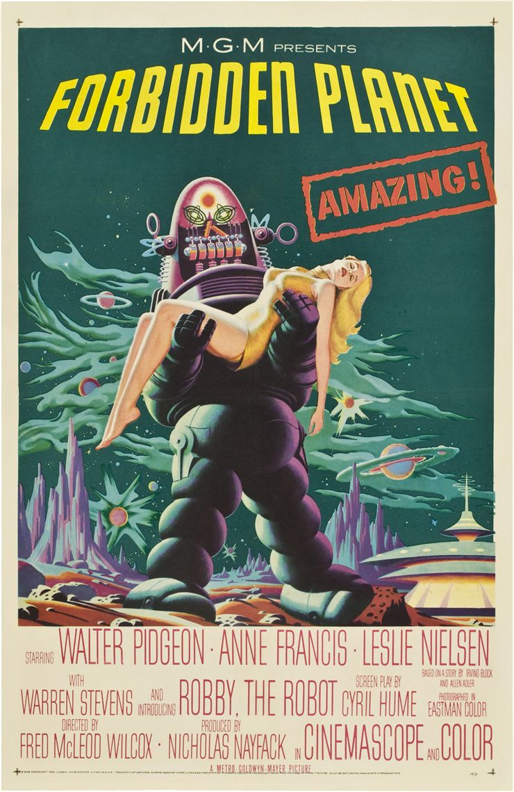 Picture Of Theatrical Release Poster Of Forbidden Planet 1956