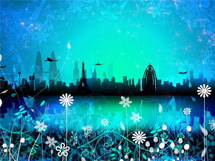 Picture Of Utopian Blue Skyline